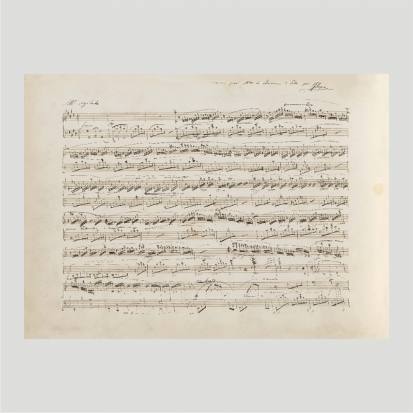 Chopin Facsimile Manuscript Fantasie Impromptu Op. 66 C sharp minor