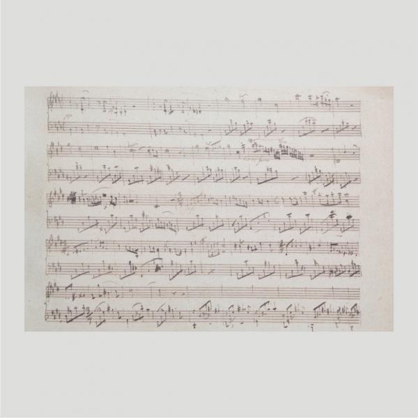 Chopin Facsimile Manuscript Lento con gran espressione nocturne C sharp minor posthumous no.20