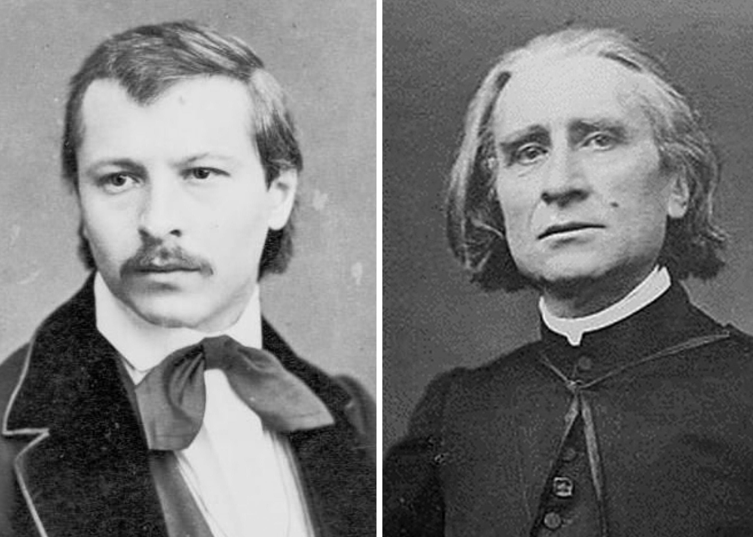 From Left to Right: Carl Tausig and Franz Liszt