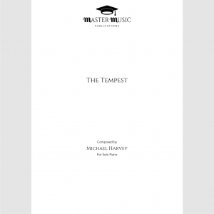 The Tempest for Solo Piano by Michael Harvey